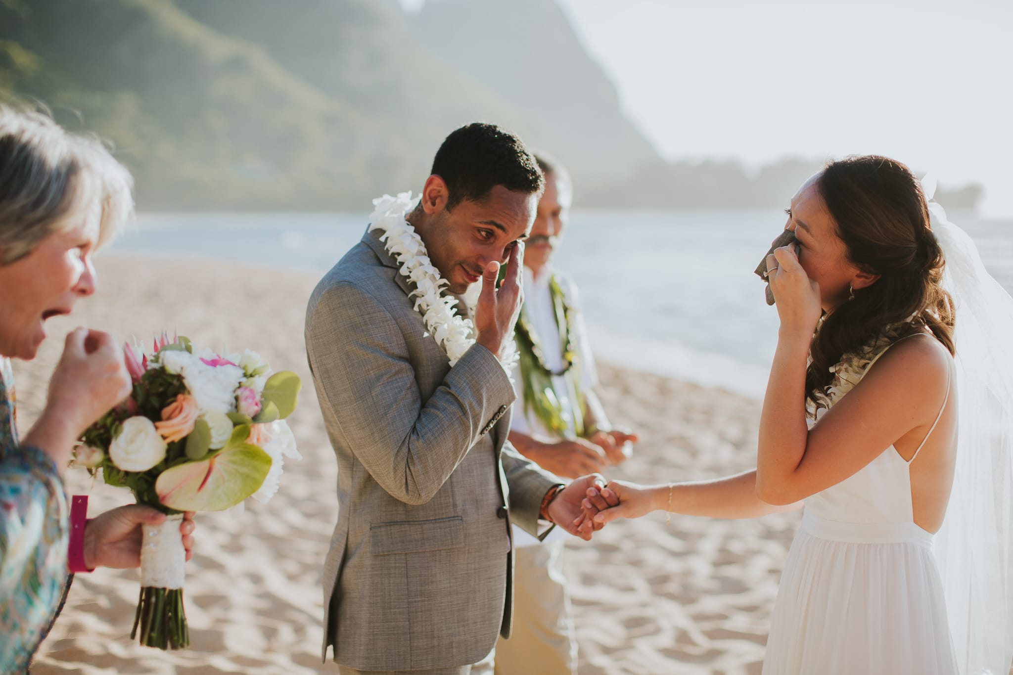 Tunnels Beach Kauai Wedding