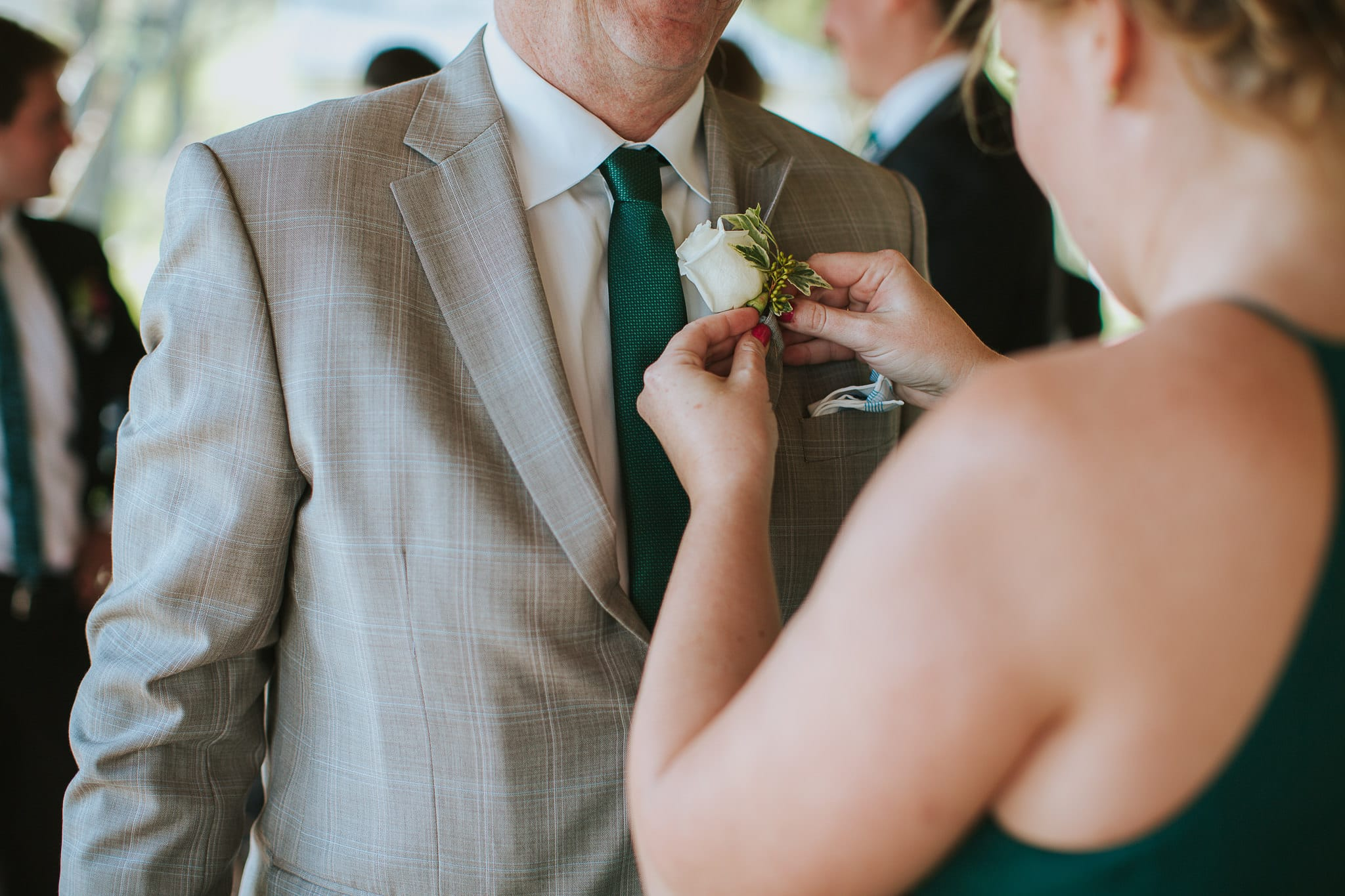"""We're got a few fun personalized items like cocktail napkins, coozies, and signs for the back of our bride/groom chair that read """"same team"""" :)"""