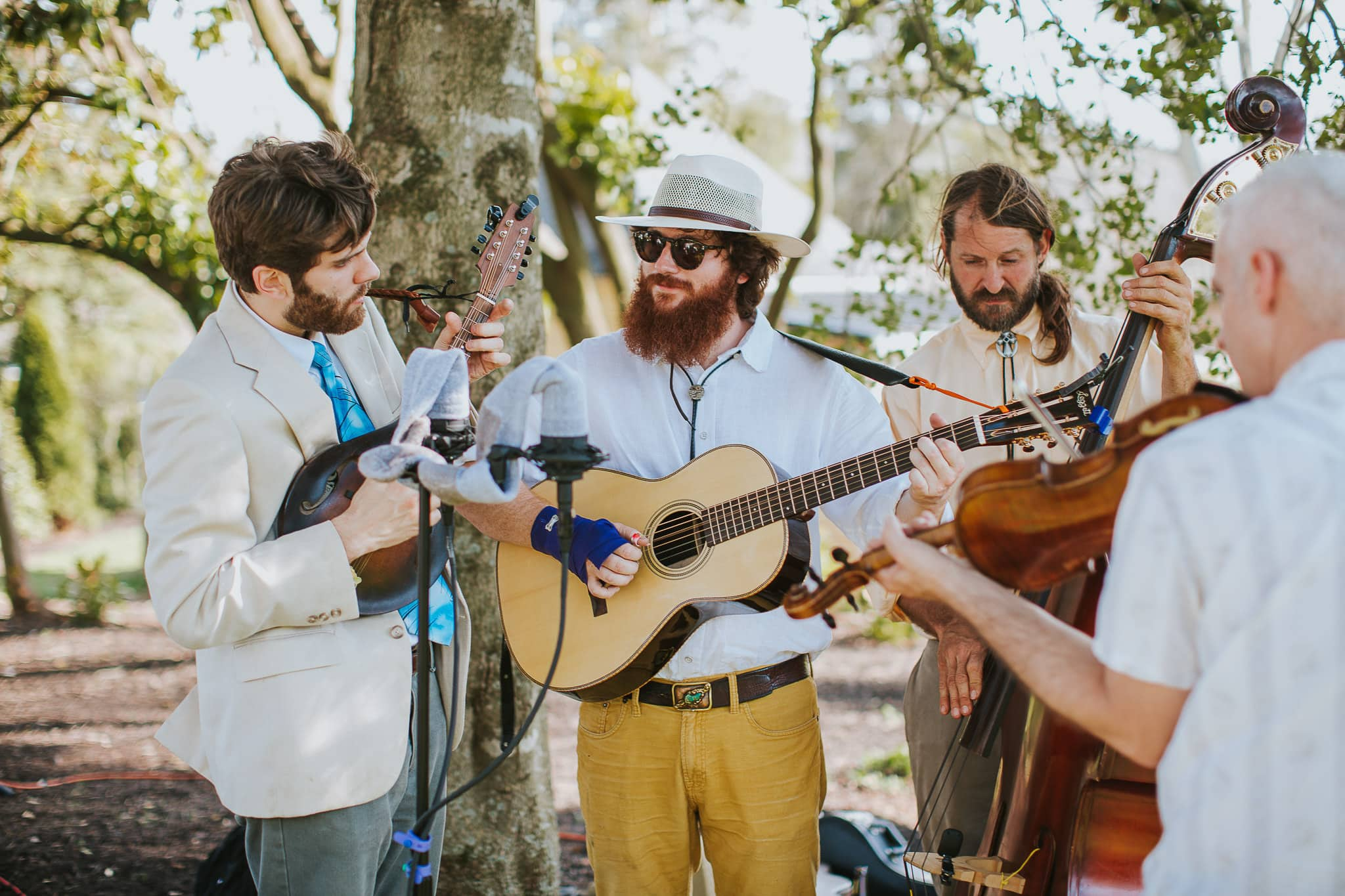 We hired a blue grass 4-piece string band who will play during the ceremony