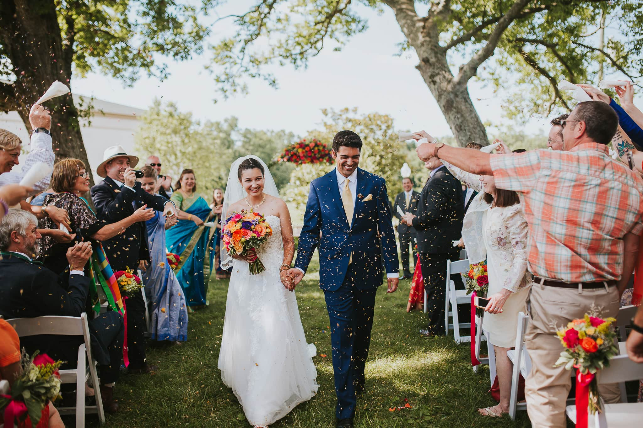 beautiful exit wedding