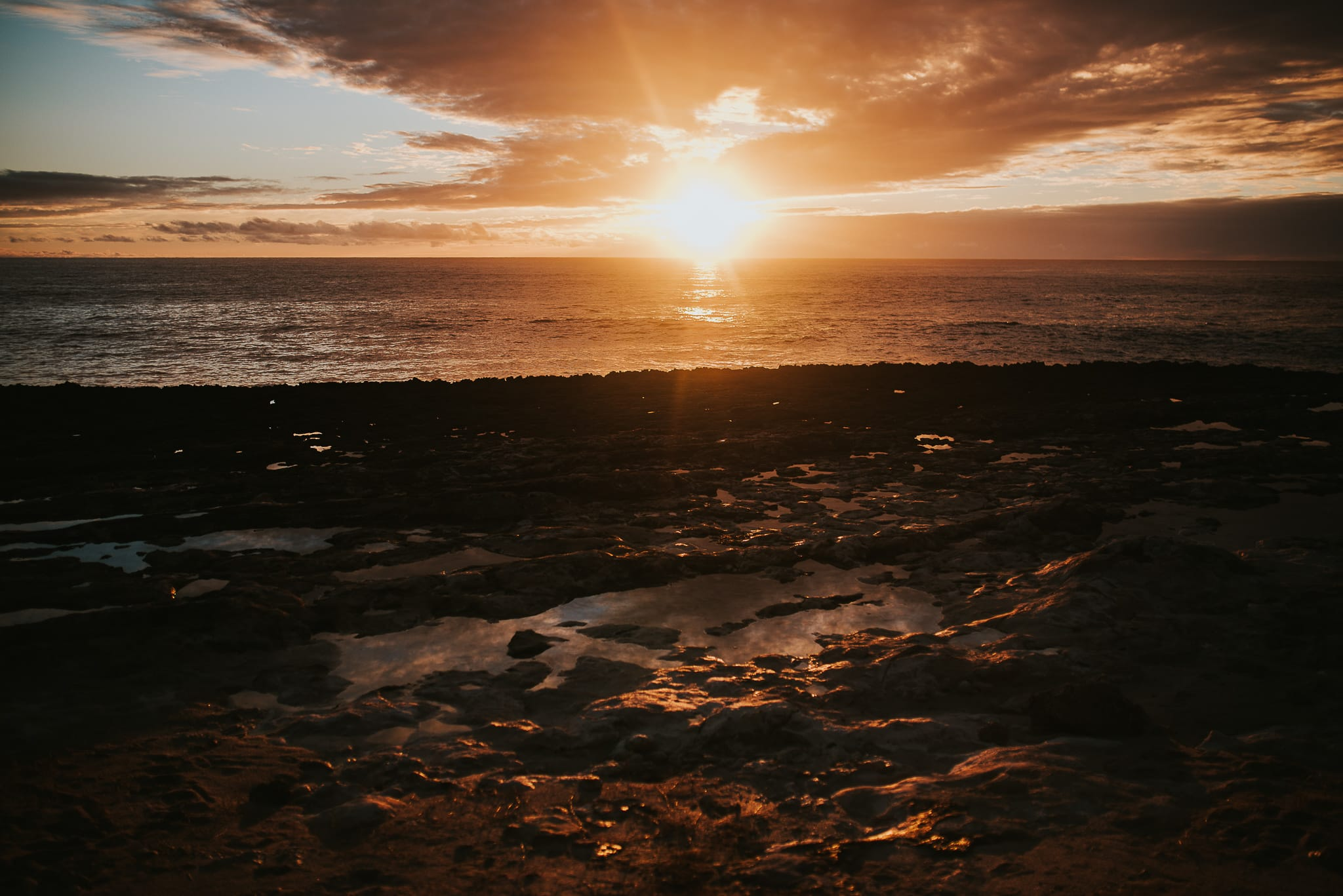 Kaʻena Point State Park Hawaii sunset