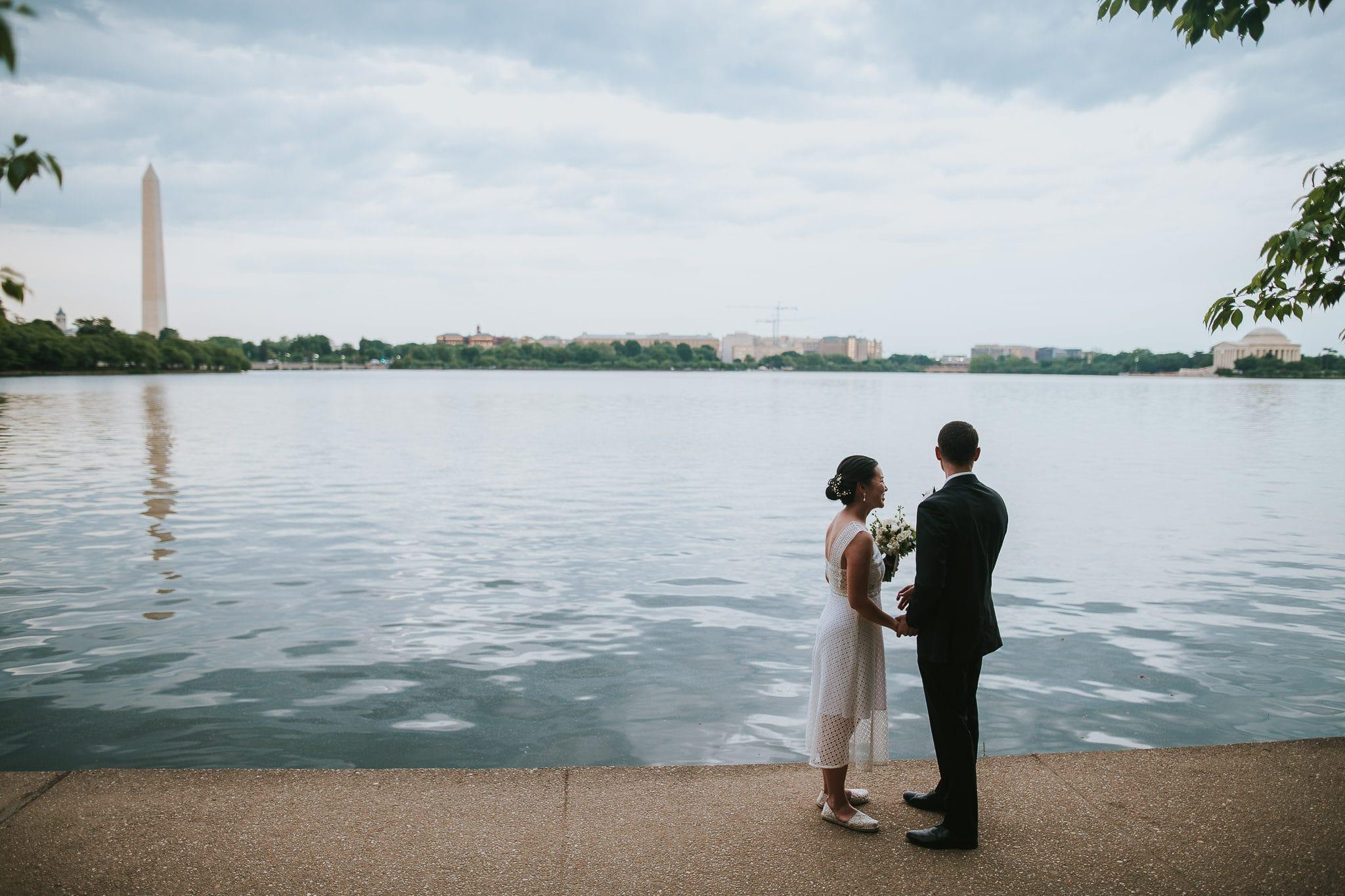 washington dc tidal basin wedding