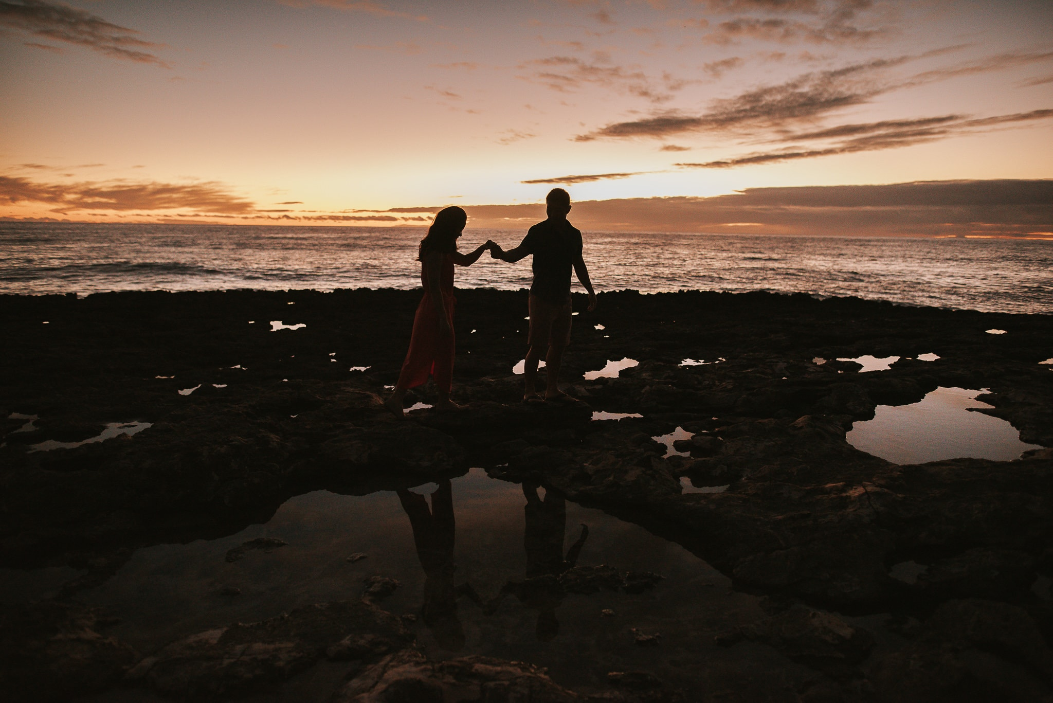 Melbourne wedding photographer sunset