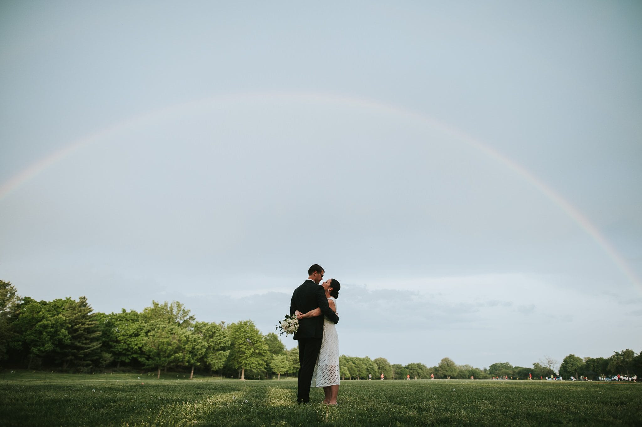 dc wedding rainbow