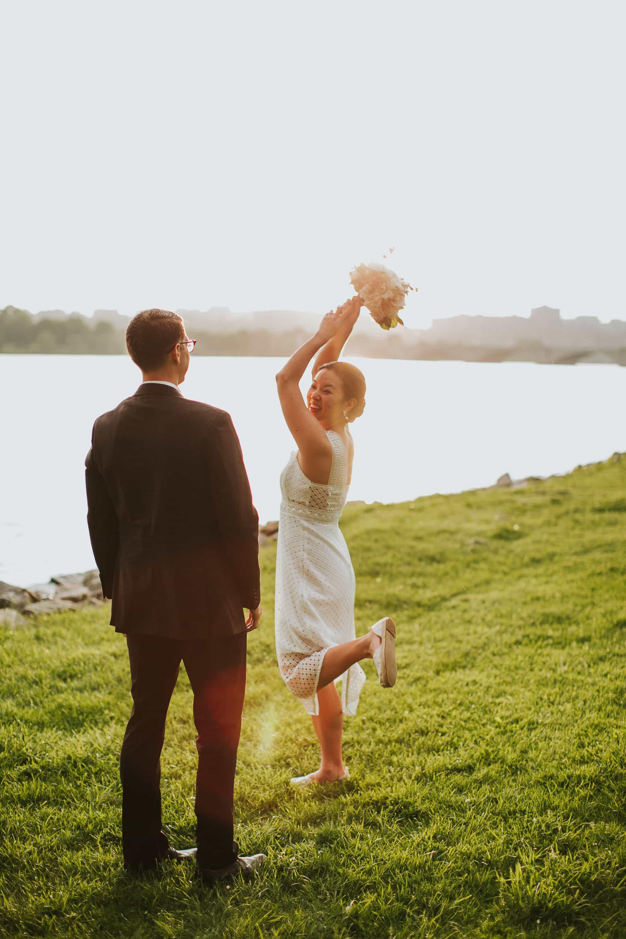tidal basin sunset wedding