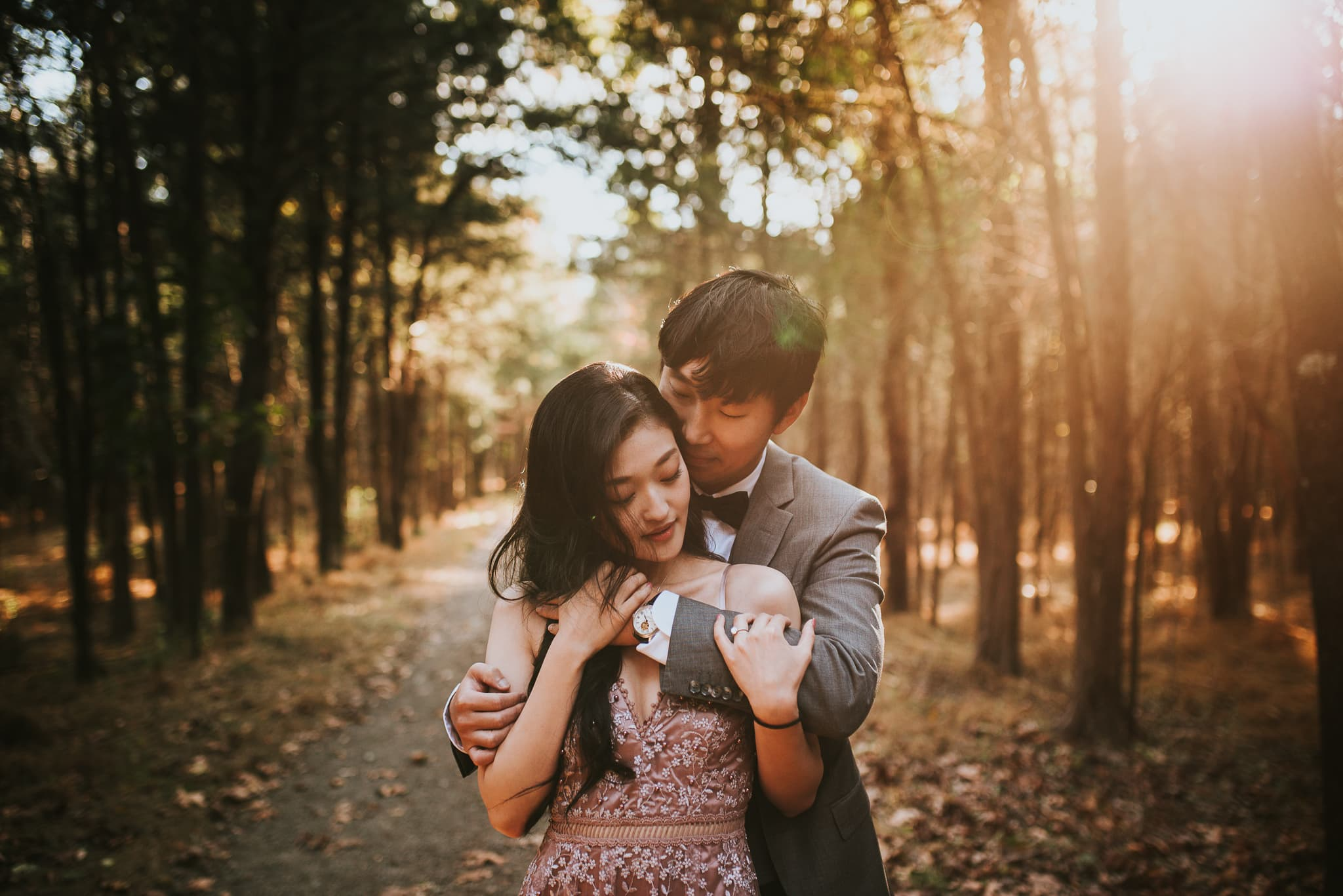 intimate engagement session