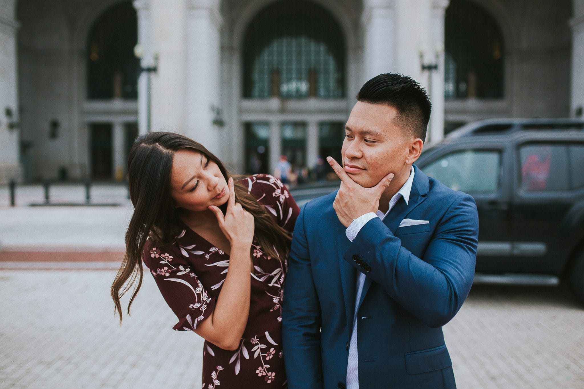 union station DC engagement photo