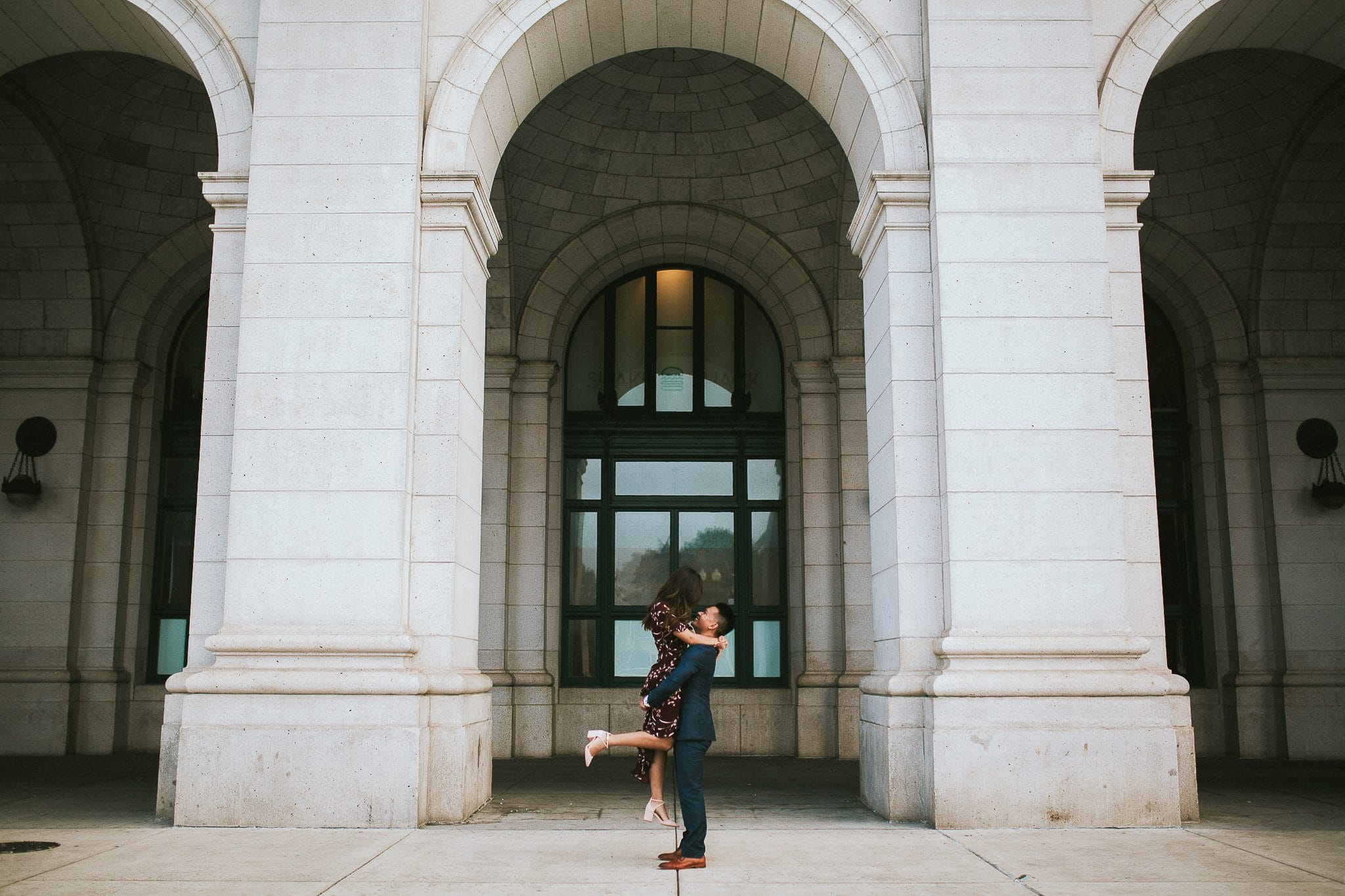union station DC engagement photography