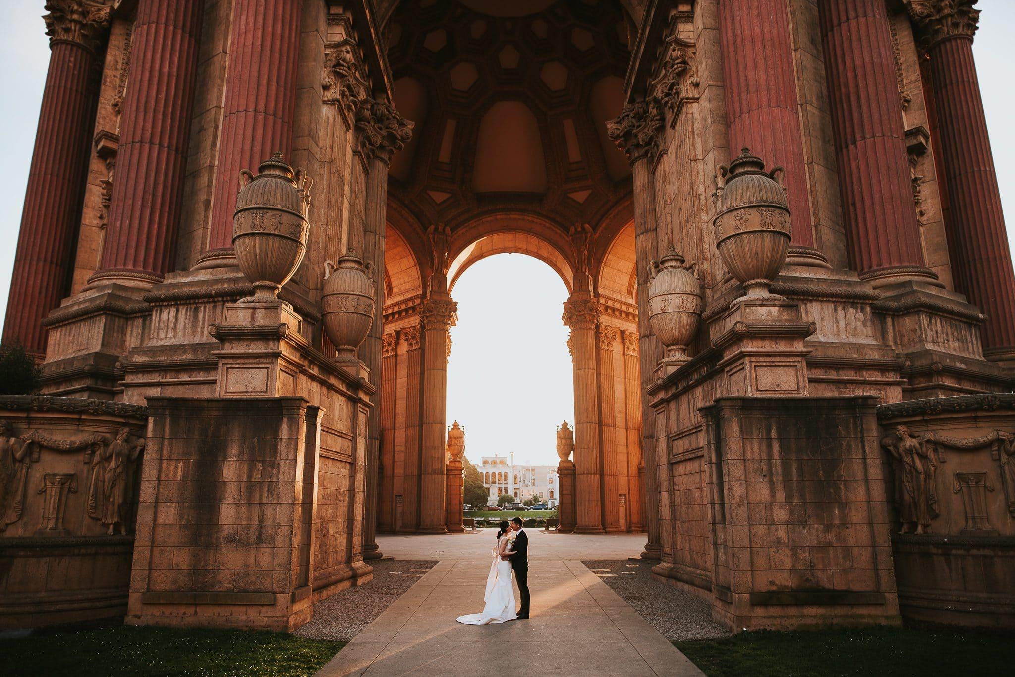 palace of fine arts san francisco sunrise