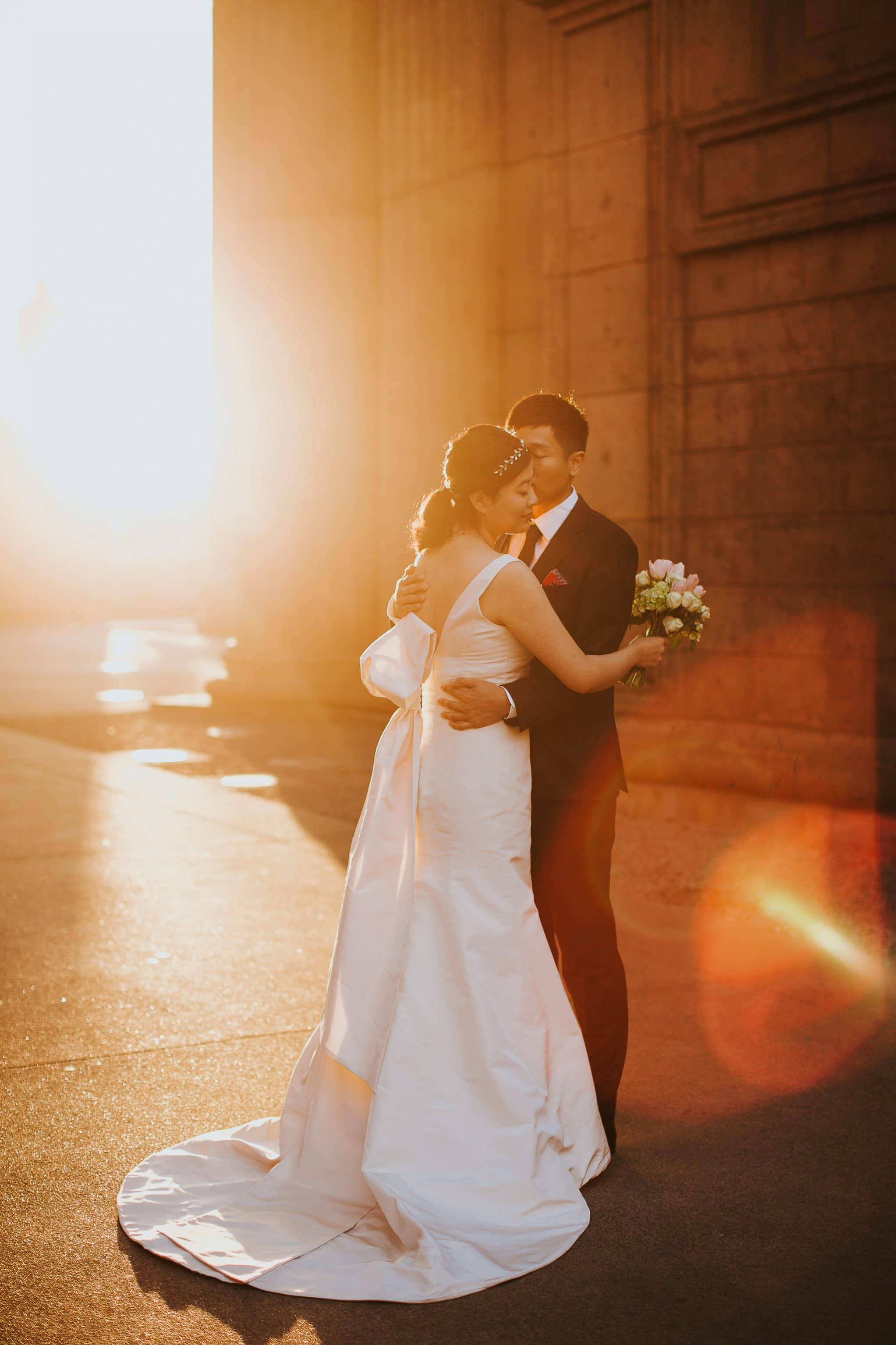 palace of fine arts san francisco wedding sunrise photoshoot