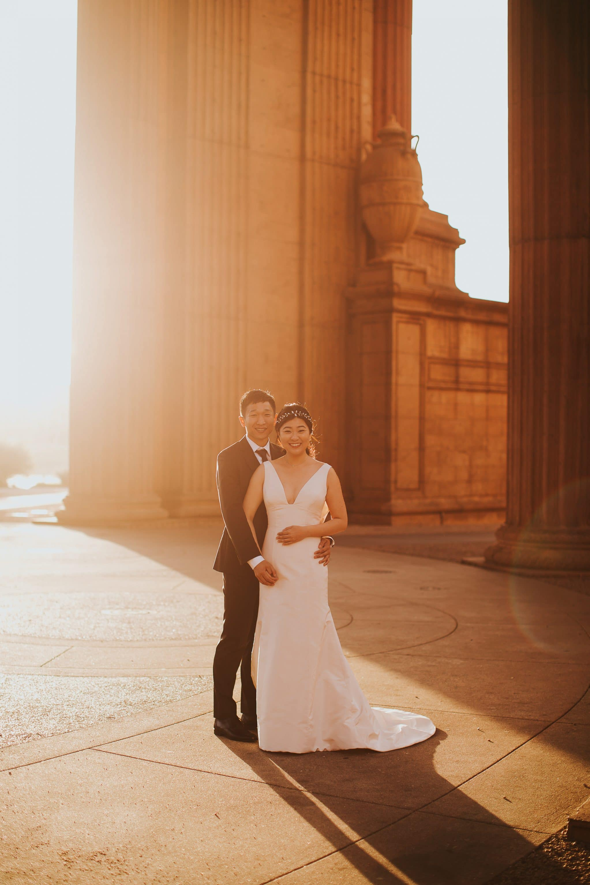 palace of fine arts san francisco wedding photos