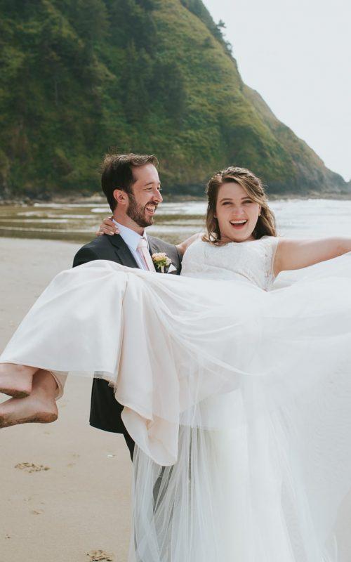 Charlotte + Ryan – Wedding – Carl Washburne Memorial State Park - Hobbit Beach, Oregon