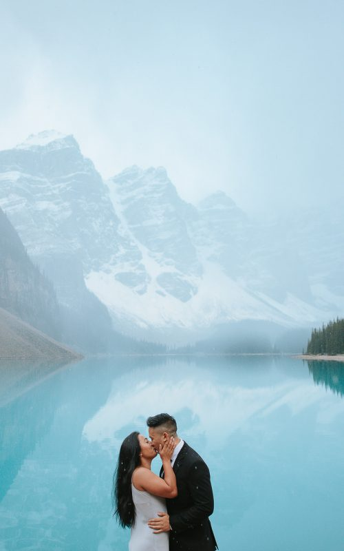 Michelle + Joey - Moraine Lake and Lake Louise Engagement Photos